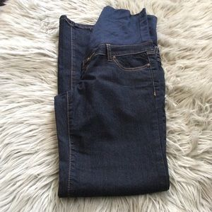 Maternity jeans dark wash straight xs thyme